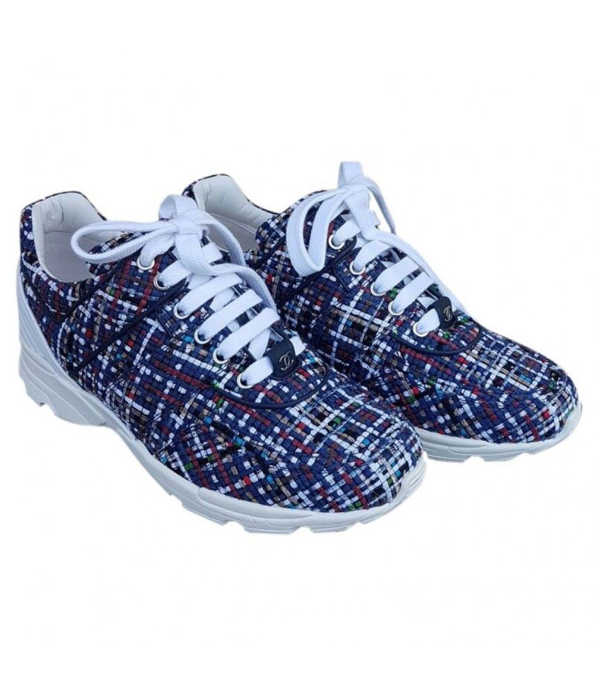 Pantofi sport Chanel, Tweed Sneakers, Multicolor