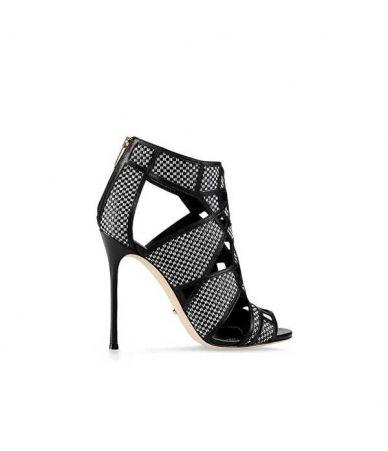 Sandale cu toc, Sergio Rossi, piele