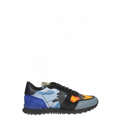 Pantofi sport Valentino Rockrunner, Sneakers Camo, 3S0723