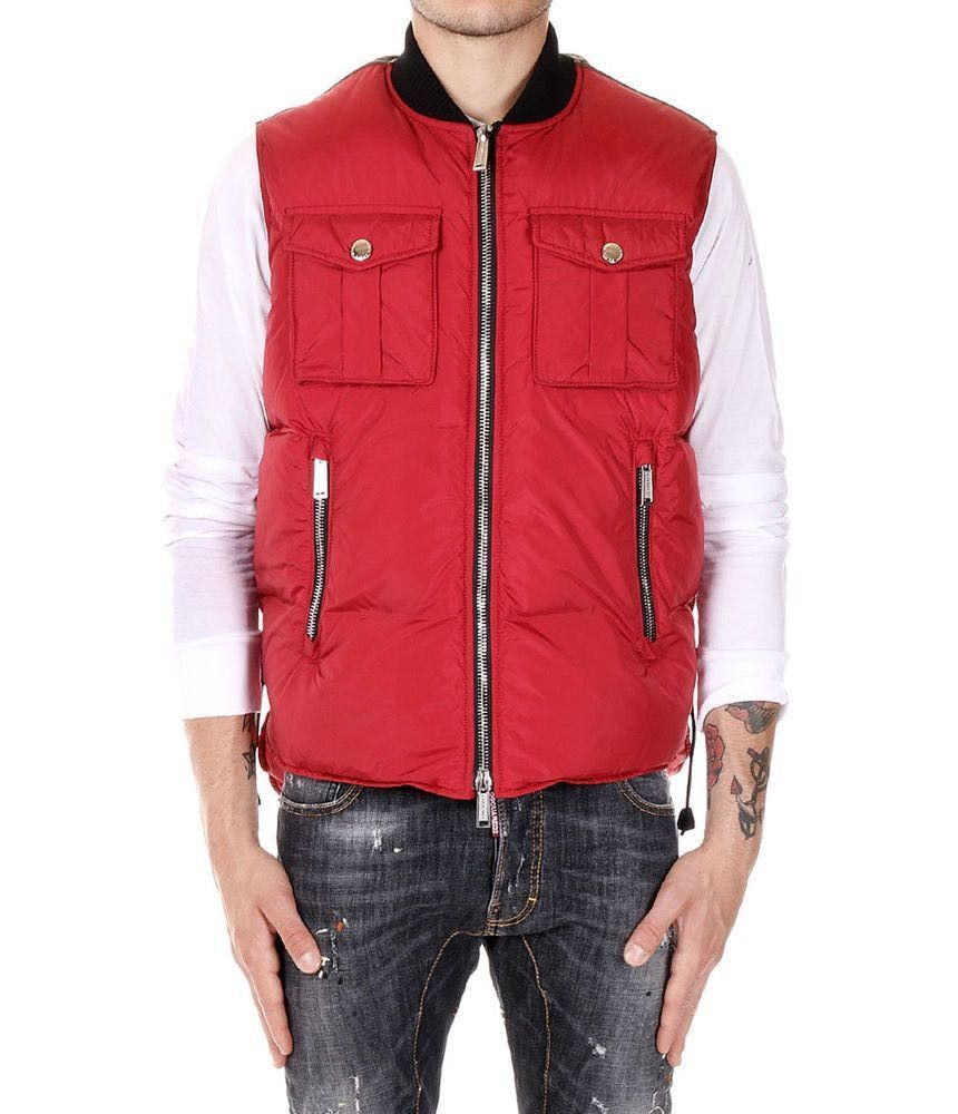 Dsquared2 Padded Vest, DEAN&DAN, Duck Down, Red