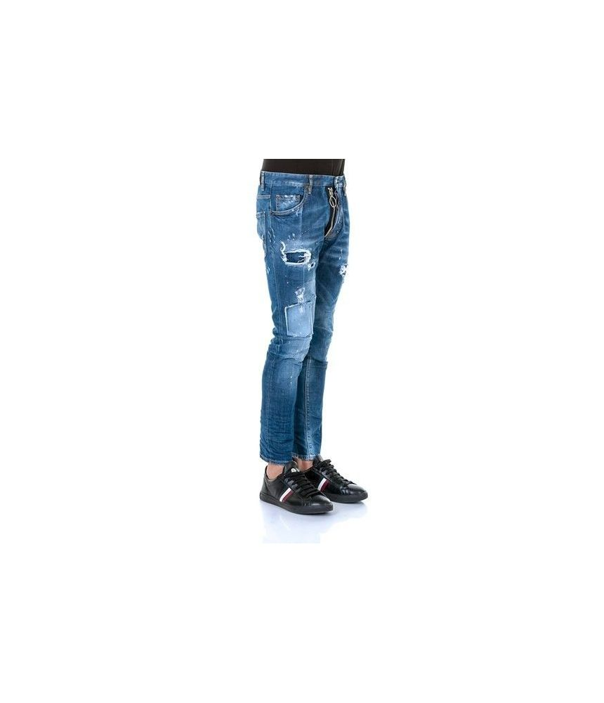 Blugi Dsquared2, Skater Jeans, Fermoar, S74LB0114