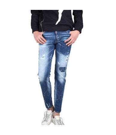 Blugi Dsquared2, City Biker Jeans Slim, 74LB0321