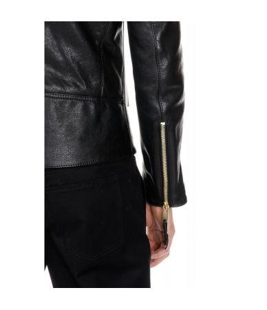 Maison Margiela zip detail leather jacket S50AM0326SY0941