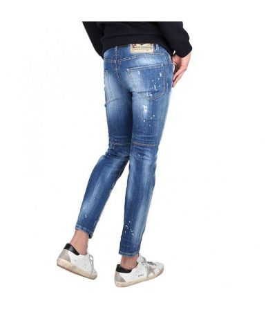 Blugi Dsquared2, City Biker Jeans Slim, 74LB0321