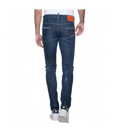 Dsquared2 Jeans Cool Guy, S74LB0347, Embroidered, Slim