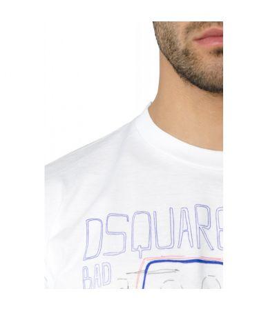 Tricou Dsquared2, Bad Camp, imprimat, S74GD0359S22427100