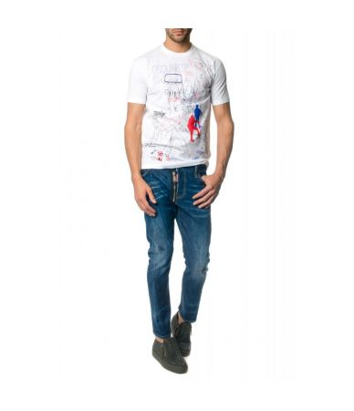Dsquared2 T-shirt, Bad Camp, printed, S74GD0359S22427100