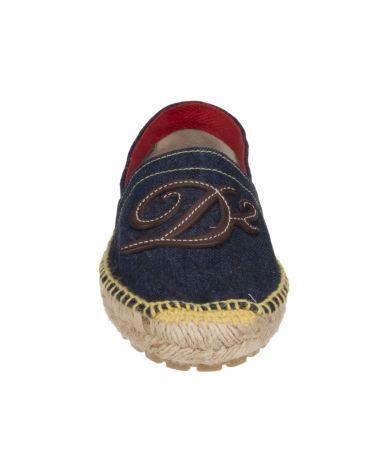 Espadrile Dsquared2, Logo D2, Denim, S15 S201 V101 3085