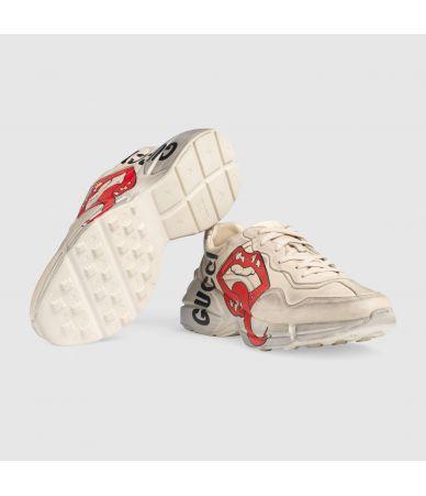 Pantofi sport Gucci Rhyton, adidasi imprimati, 552089 A9L00 9522
