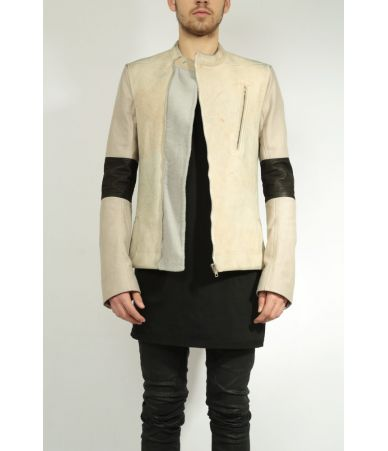 Rick Owens Moody Biker, Suede Leather Jacket, RR14F2708