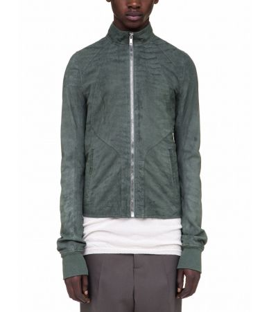 Rick Owens Intarsia Leather Jacket, Track, Green, RU18S5761 LB105