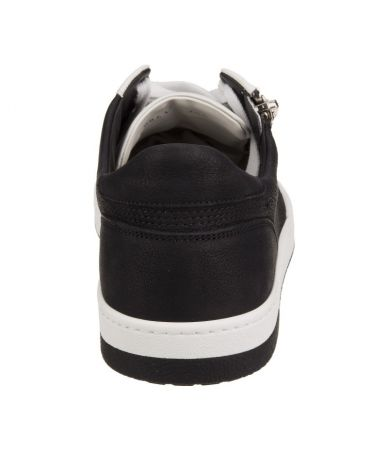 Pantofi sport Gucci, fermoar lateral, adidasi two-tone, alb-negru