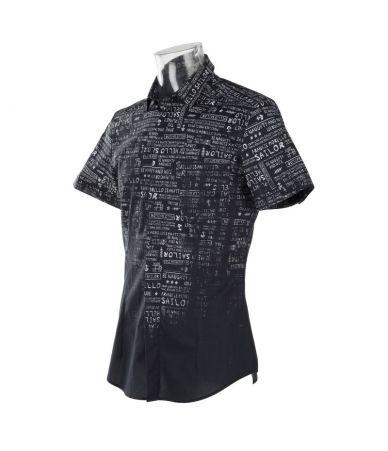 Camasa, tricou polo printat, Frankie Morello Dorkeman