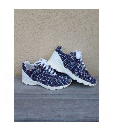 Chanel Women Multicolored Tweed Sneakers