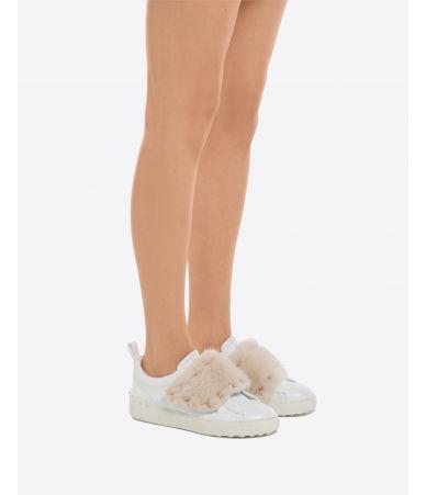 Pantofi sport, adidasi Valentino Rockstud Mink, roz, NW2S0E11UEW
