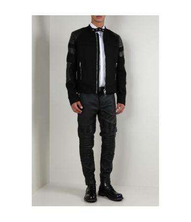 Pantaloni piele, Les Hommes Biker Pants, LHB480LLB2519000