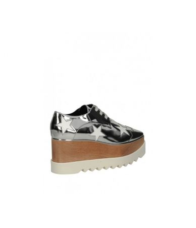 Sandale cu platforma, Stella McCartney, Elyse Mirror Silver Faux