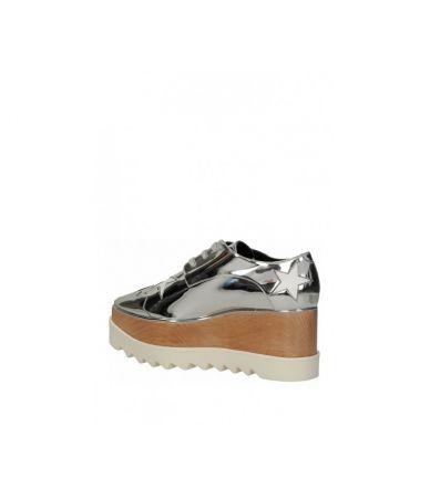 Stella McCartney Wedges, Elyse Mirror Silver Faux 363998W0ZR58171