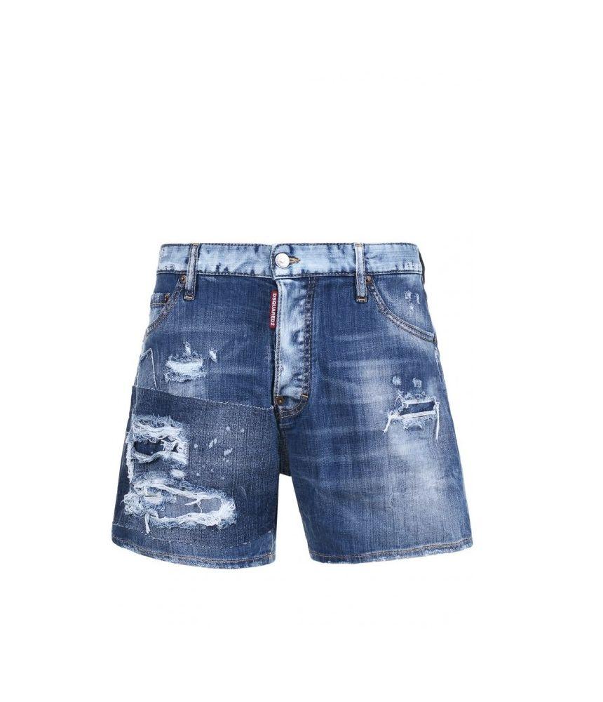 Dsquared2 Denim Shorts, Destroyed, Washed S71MU0457S30342
