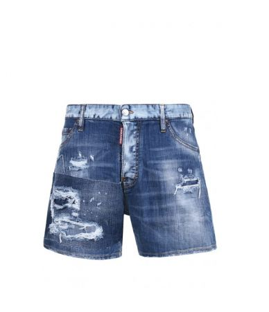 Dsquared2 Denim Shorts, Destroyed, Washed S71MU0457S30342