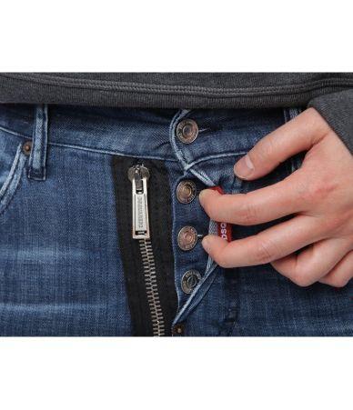 Blugi barbat, Dsquared2 Skater Jeans, Skinny 74LB0423 S30342 470