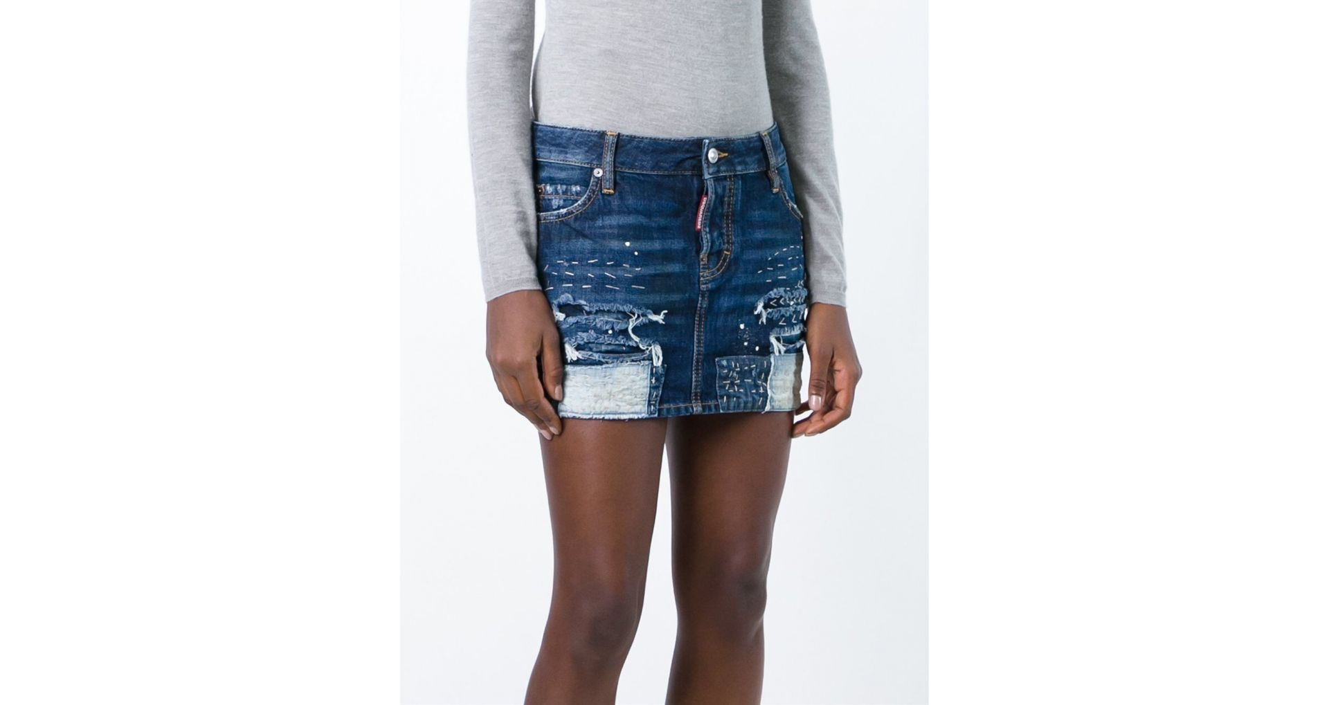Skirts for ladies made from denim, leather, polyester