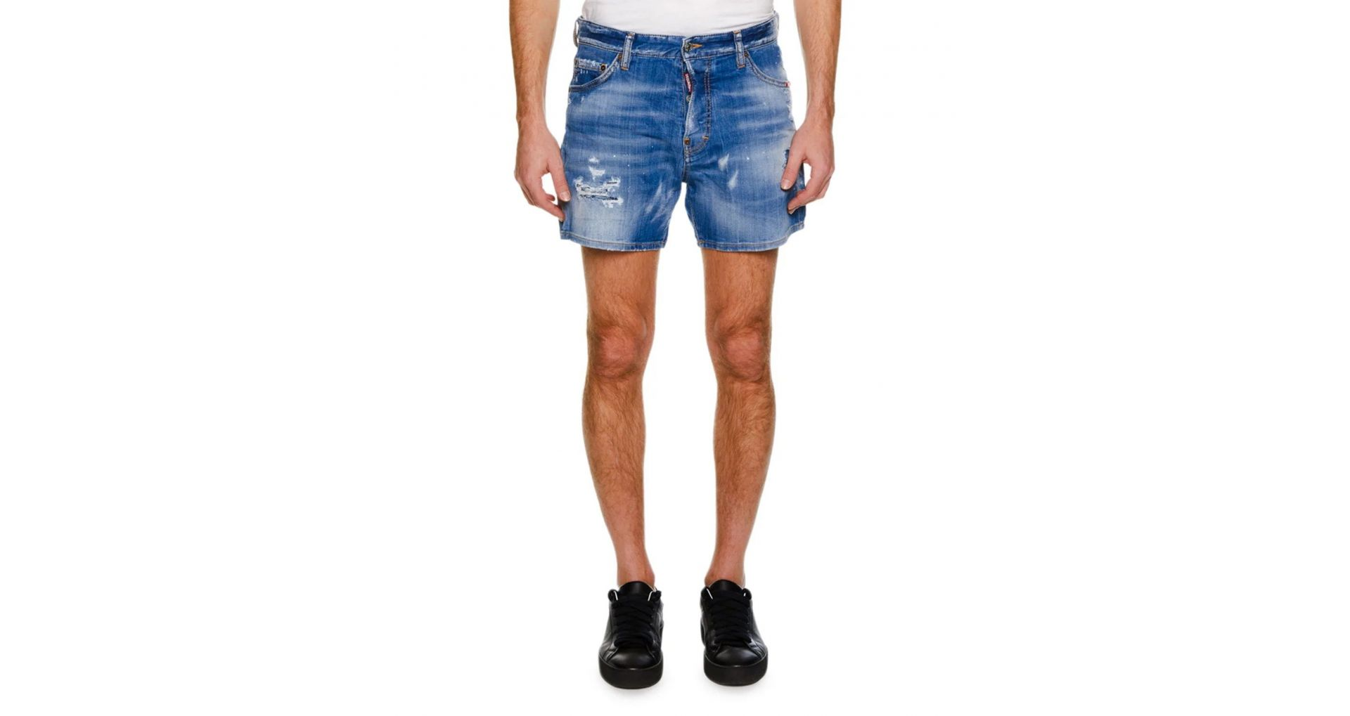Shorts made from denim, polyester, favorite brands