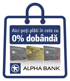 Alpha Bank - Plata in rate pe signatureshop.ro